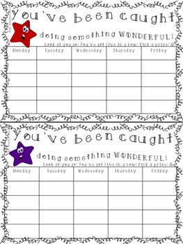 Individual Student Incentive Charts-Freebie