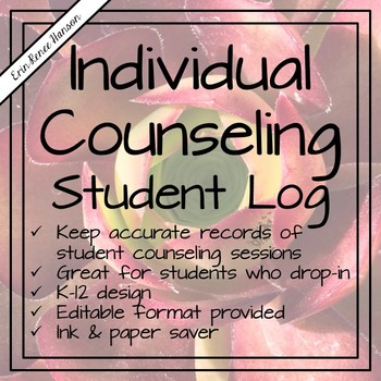 Individual Counseling Student Log
