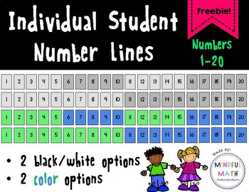 Individual Student Number Lines 1-20
