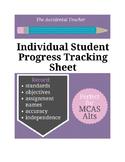 Individual Student Progress Tracking Sheet