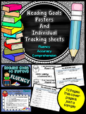 Individual  Reading goals - Posters and Tracking sheets