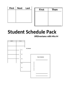 Individual Student Schedule- Variety Pack