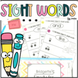 Individual Student Sight Word Practice {Editable}