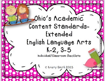 Individual Student/Classroom- Common Core Extended Standards ELA K-2, 3-5