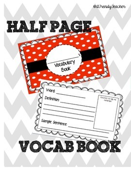 Individual Vocabulary Book