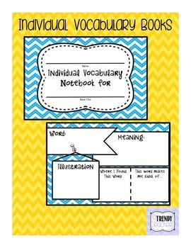 Individual Vocabulary Book - Version 2