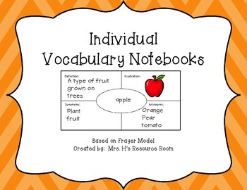 Individual Vocabulary Notebook