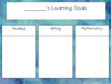 Individual Watercolour Learning Goal and Reflection of Learning Posters