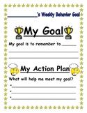 Individual Weekly Behavior Goals