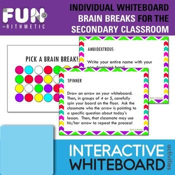 Individual Whiteboards Brain Breaks for the Secondary Classroom