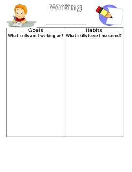 Individual Witing Goal Template