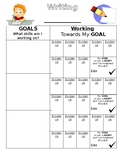 Individual Witing Goal with Mastered Date Template