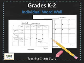Individual Word Wall for Writing Workshop