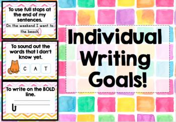 Individual Writing Goals Clip Chart