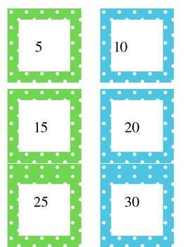 Individual count by 5s cards
