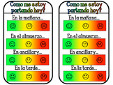 Individual daily behavior chart in Spanish