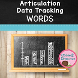 Articulation Progress Monitoring Data Word Level {Speech Therapy}