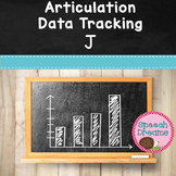 FREE Articulation Progress Monitoring Data J {Speech Service Notes}
