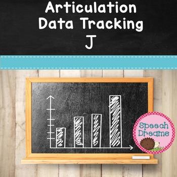 FREE Articulation Progress Monitoring Data J {Speech Service Notes}