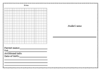 Individual learner's folder cover