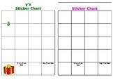 Individual sticker chart