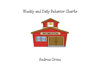 Individual student daily and weekly behavior charts for classroom use