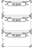 Individual student goals cards