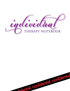 Individual therapy notebook cover