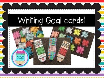Individual writing goal cards #flamingofriday