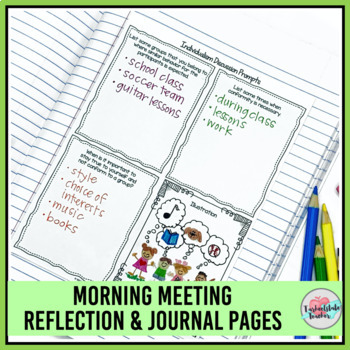 """Morning Meeting Activities for Individualism """"Be Yourself""""- Theme in Literature"""