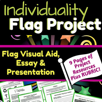 Individuality Flag Project & Presentation, Grades 5-8