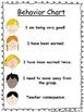 Individualized Behavior Chart