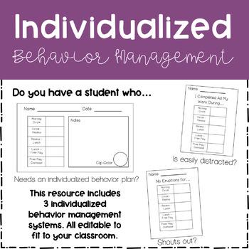 Individualized Behavior Management Systems