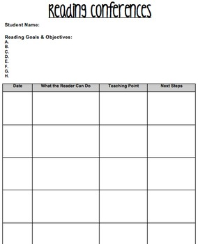 Individualized Conferencing Sheets *Editable!*
