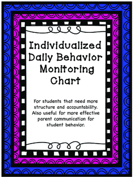 Individualized Daily Behavior Monitoring Chart
