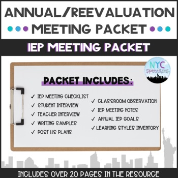 Individualized Education Plan (IEP) Meeting Packet