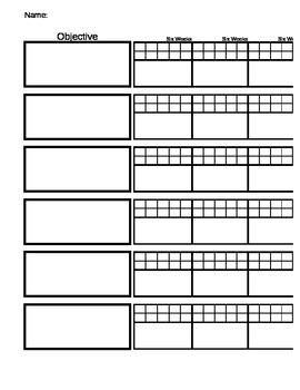 Individualized Education Plan (IEP) Progress Chart