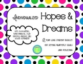Individualized Goal Setting Booklet for Student Hopes and Dreams