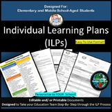 Individualized Learning Plan (ILP) for Elementary and Midd