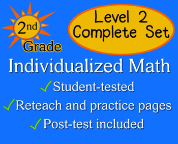Individualized Math Level 2 - Complete Set - Assessment/Worksheets - 2nd grade
