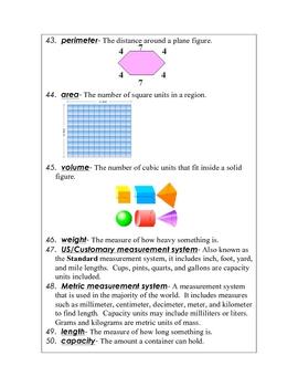Individualized Math Vocabulary Program for Grades 3-6