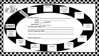 Individualized Student Behavior Chart - Editable