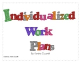 Individualized Work Plans-August/September