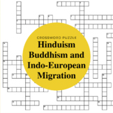 Indo-European Migration, Hinduism and Buddhism Crossword Puzzle
