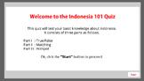 Indonesia 101 Quiz