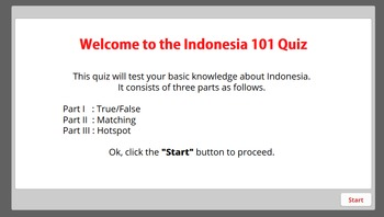 Indonesia 101 Quiz