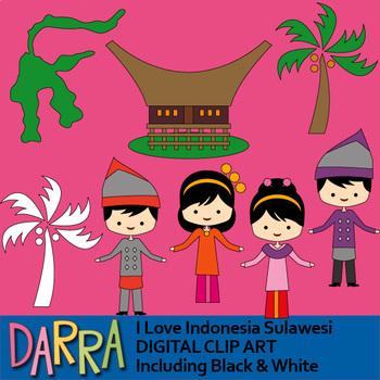Indonesia clipart - I love Indonesia, Sulawesi - clip art