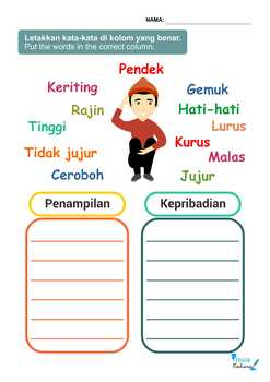 Indonesian Adjectives NO PREP Packet (Poster, Flash Cards, Worksheets)