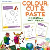 Indonesian Animals Colour Cut & Paste Activity Book (Binat