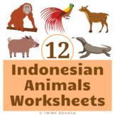Indonesian Animals Worksheets NO PREP